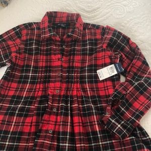 Ralph Lauren girls plaid shirt
